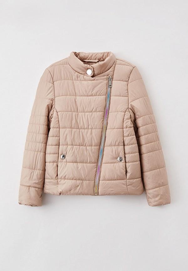 утепленные куртка baon для девочки, бежевая