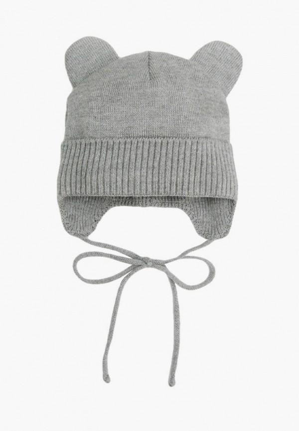 шапка amarobaby для девочки, серая