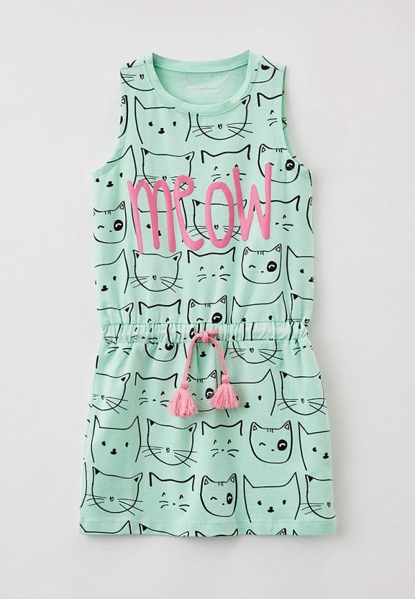 повседневные платье coccodrillo для девочки, бирюзовое