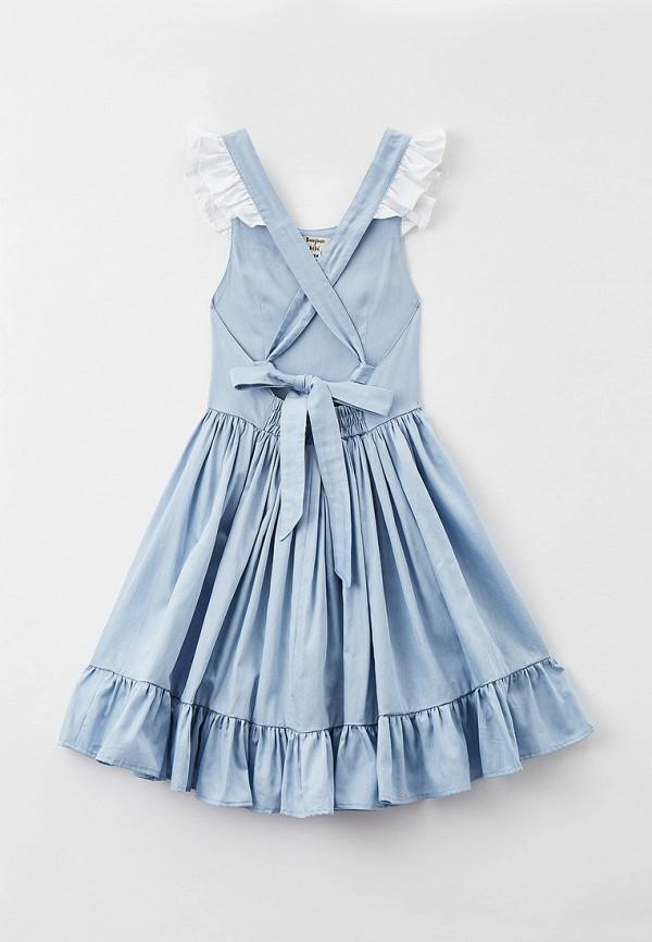 Платья для девочки Bonjour Bebe цвет голубой  Фото 2