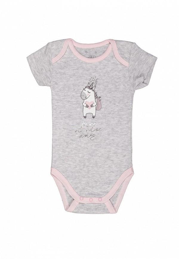 боди фламинго текстиль для девочки, серые