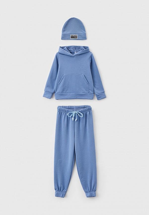 Костюм спортивный для девочки Новое Кимоно цвет голубой
