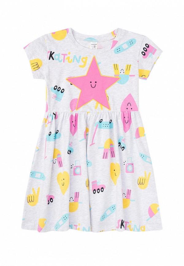 повседневные платье crockid для девочки, серое