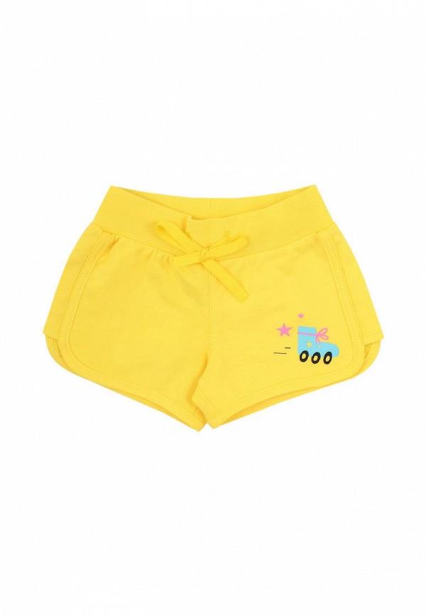 спортивные шорты crockid для девочки, желтые