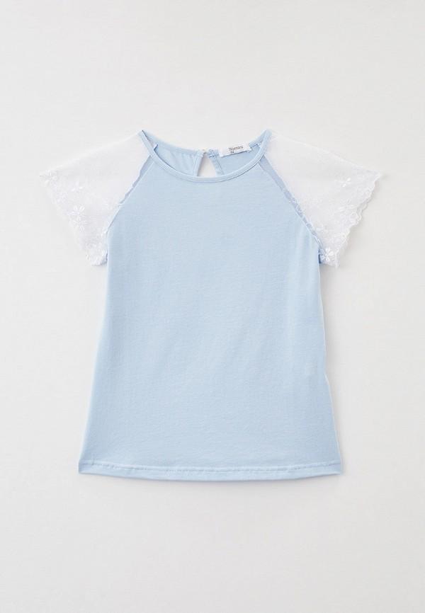 блузка tforma для девочки, голубая