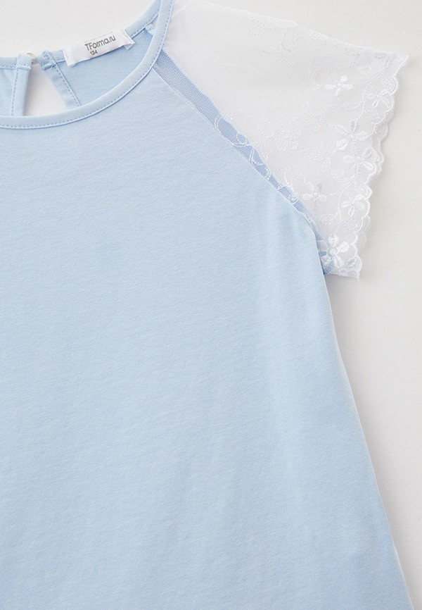 Блуза Tforma цвет голубой  Фото 3