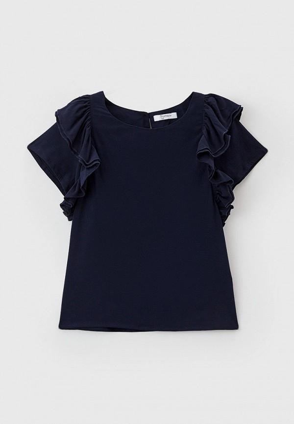 блузка tforma для девочки, синяя