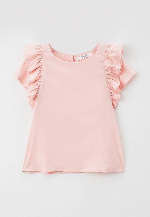 блузка с коротким рукавом tforma для девочки, розовая