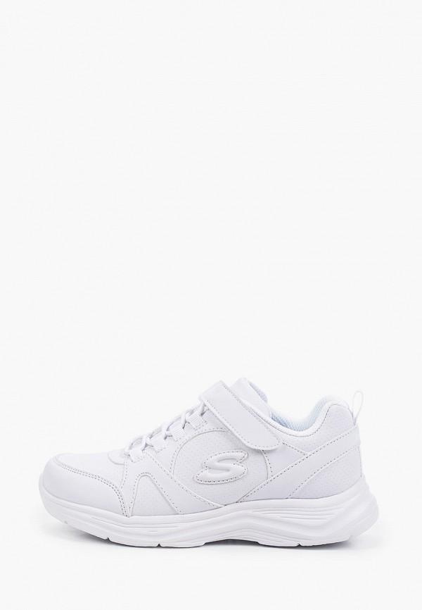 Кроссовки для девочки Skechers цвет белый