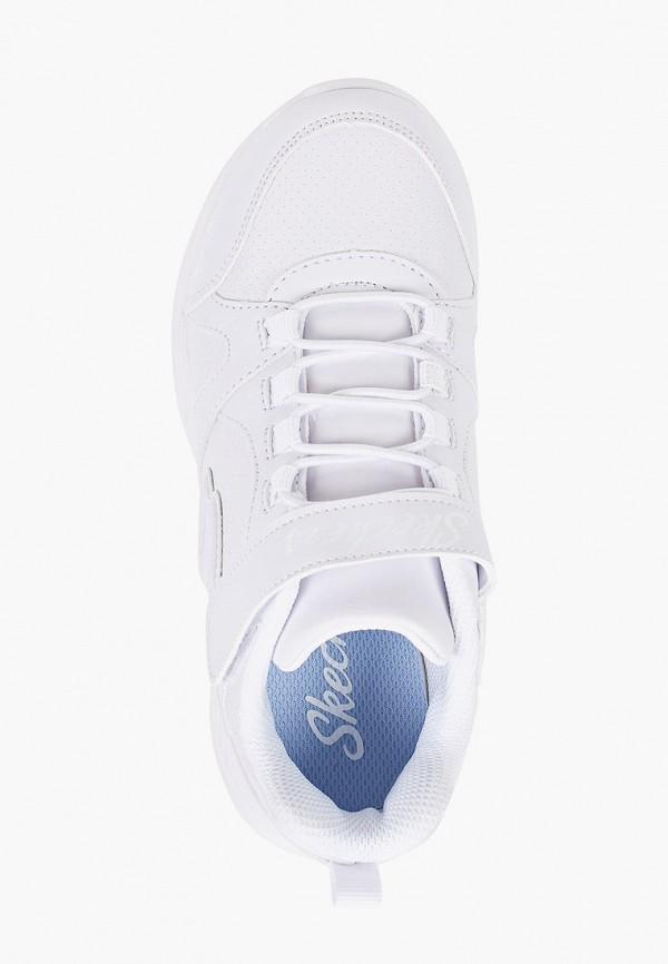 Кроссовки для девочки Skechers цвет белый  Фото 4