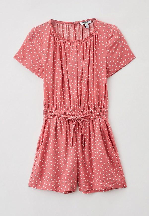 комбинезон с брюками baon для девочки, розовый