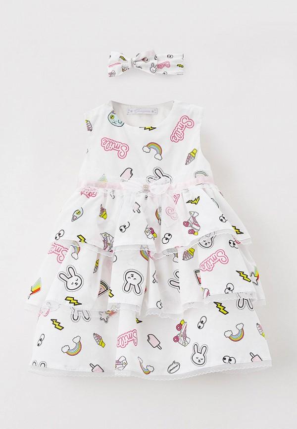 Детское платье и повязка на голову Choupette цвет белый