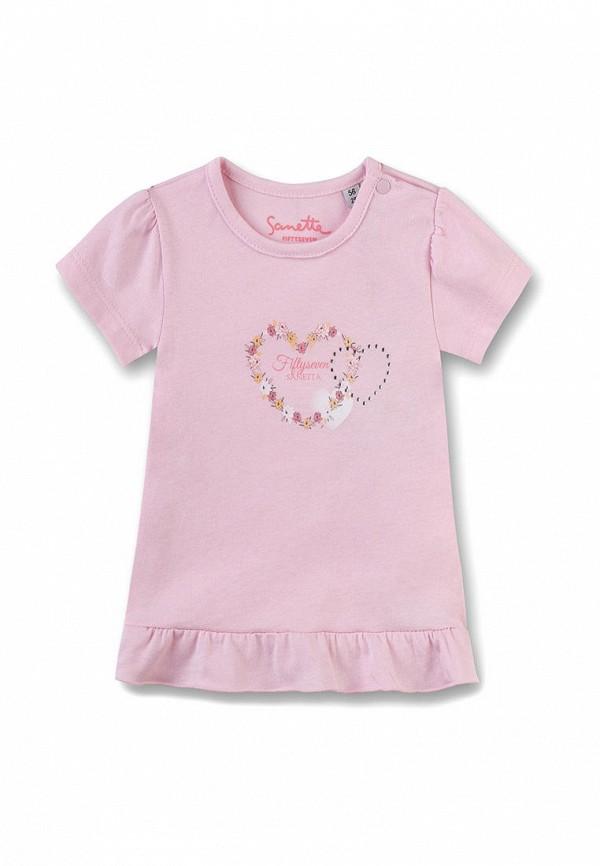 футболка sanetta для девочки, розовая