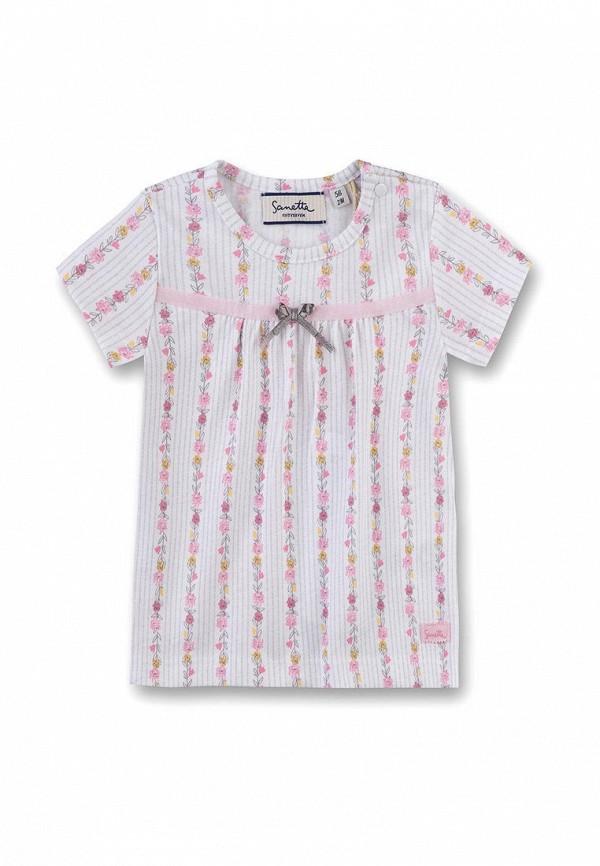 футболка sanetta для девочки, серая