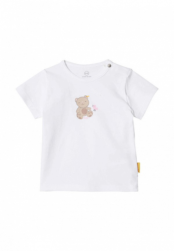 футболка steiff для девочки, белая