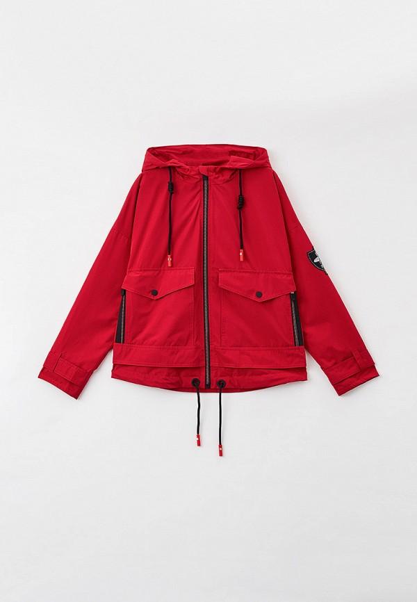легкие куртка артус для девочки, красная