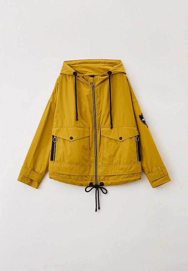 легкие куртка артус для девочки, желтая