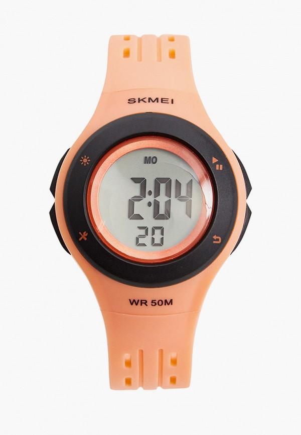 часы skmei для девочки, оранжевые