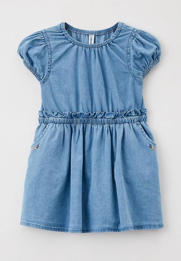 джинсовые платье coccodrillo для девочки, голубое