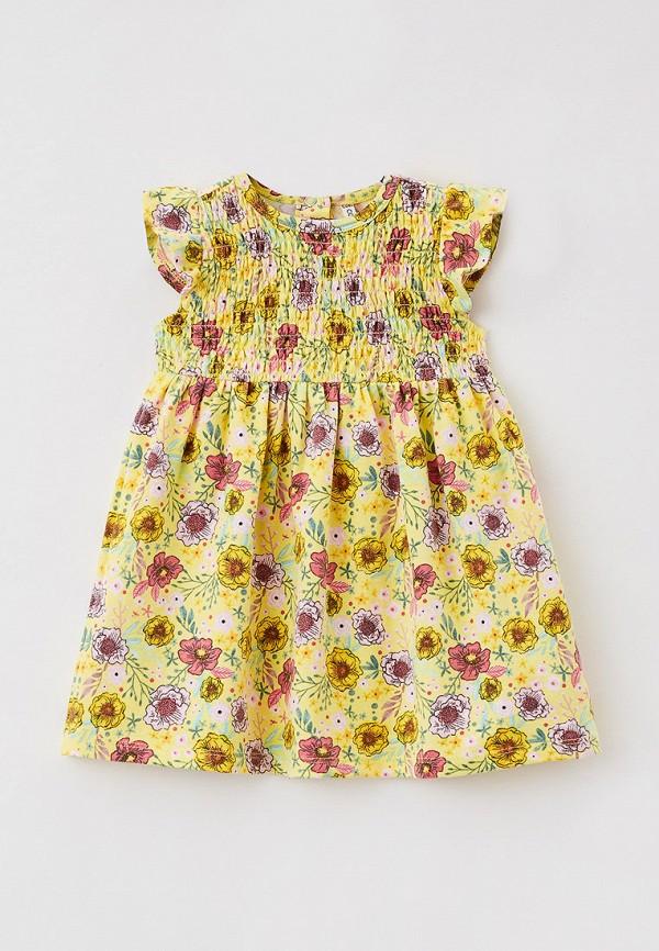 повседневные платье coccodrillo для девочки, желтое