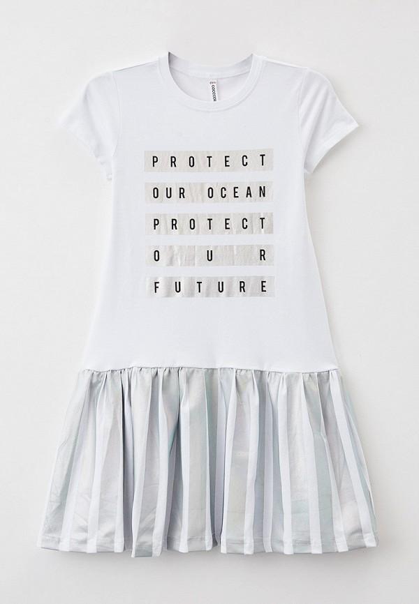 повседневные платье coccodrillo для девочки, белое