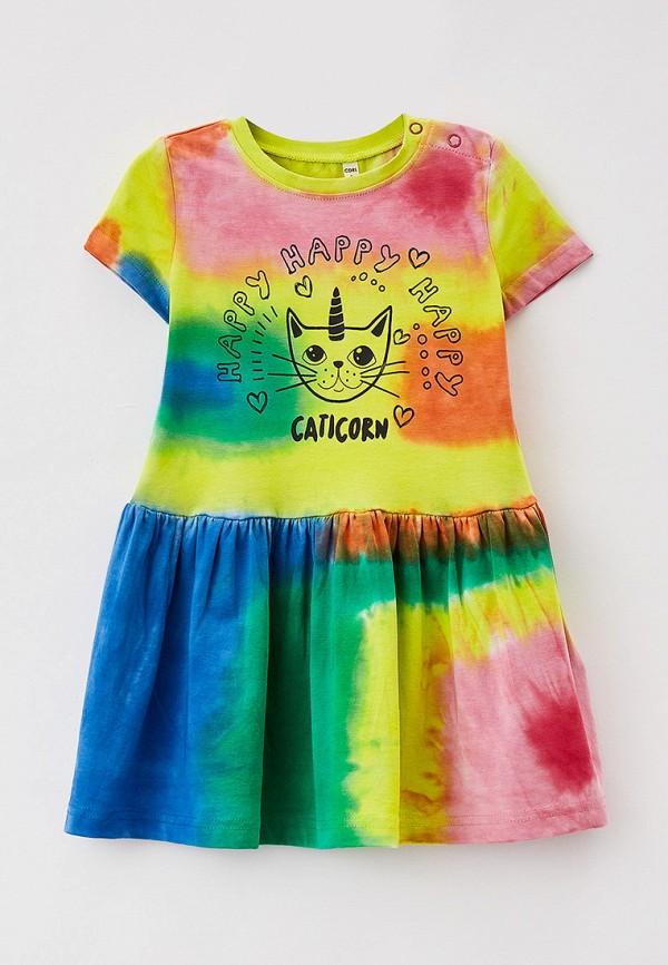 повседневные платье coccodrillo для девочки, разноцветное