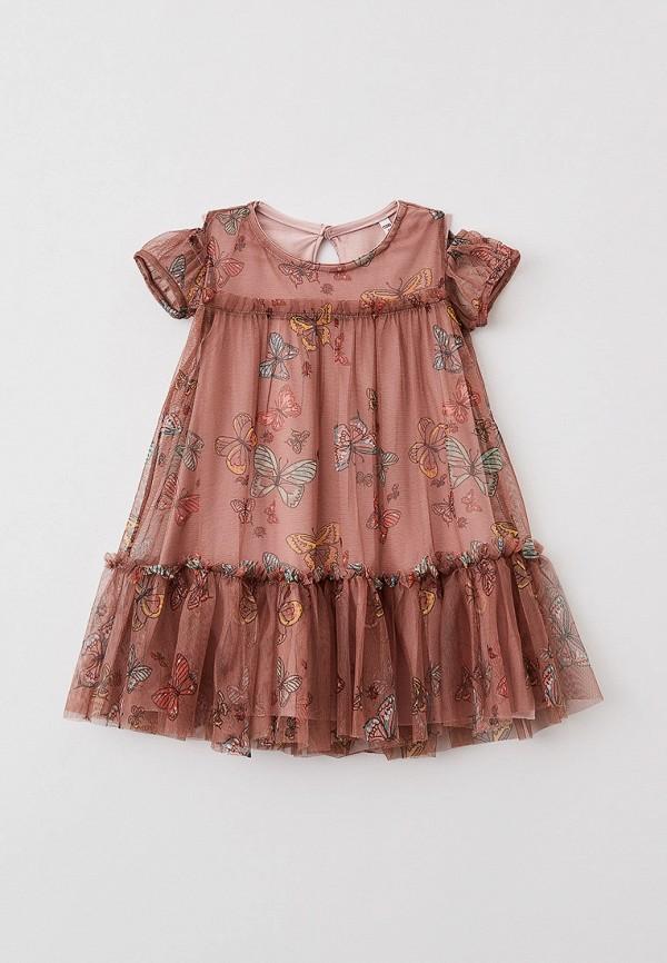 повседневные платье coccodrillo для девочки, коричневое