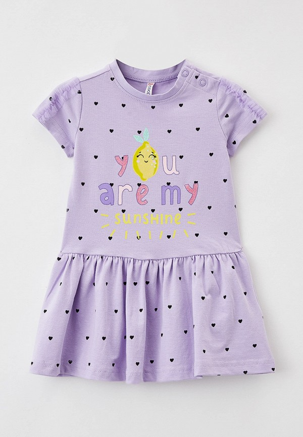 повседневные платье coccodrillo для девочки, фиолетовое