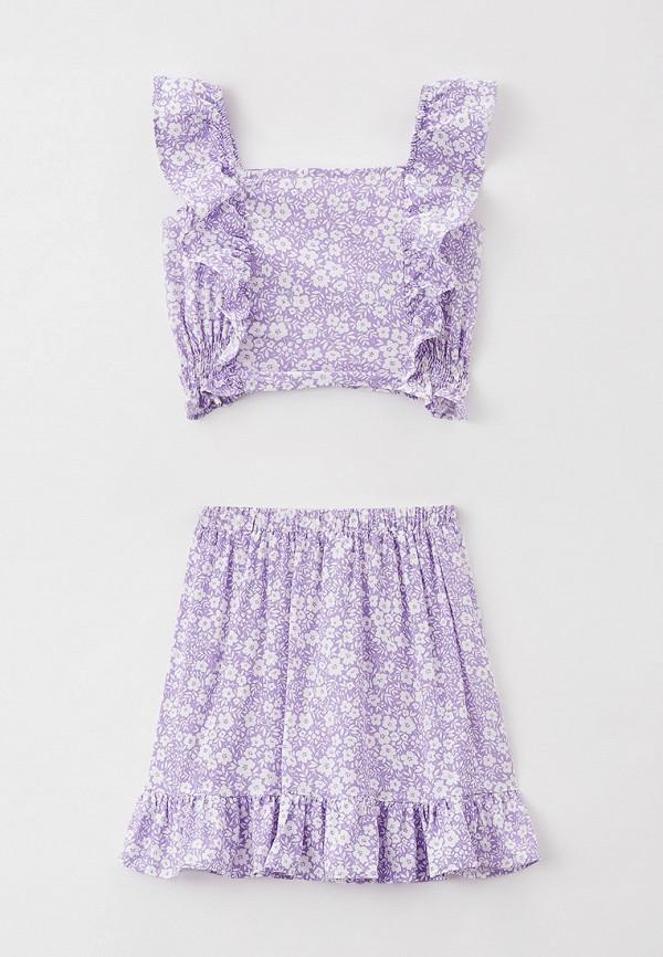 костюм defacto для девочки, фиолетовый