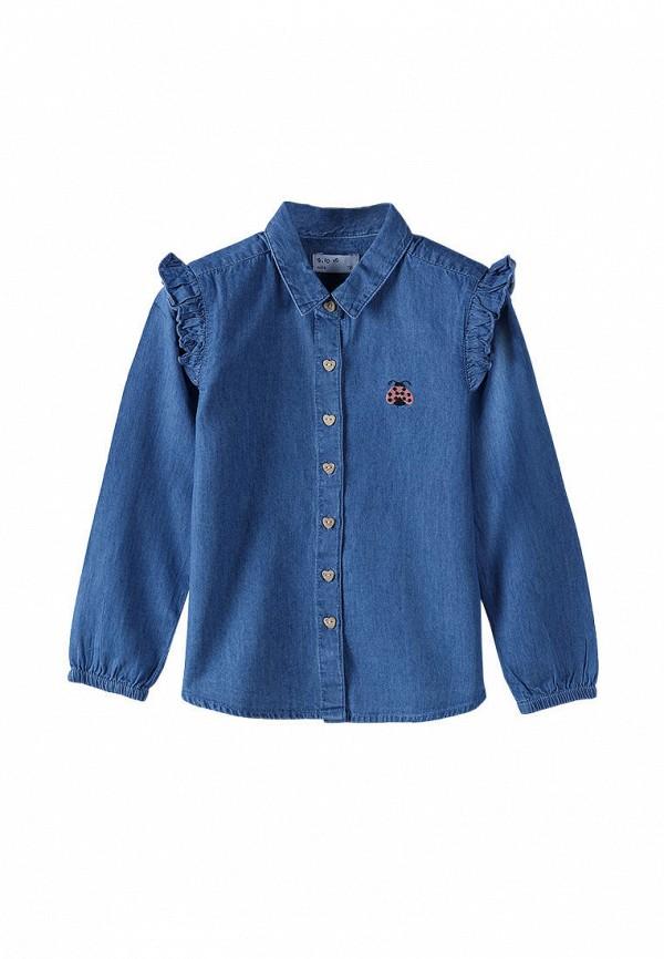 Рубашка для девочки 5.10.15 цвет синий