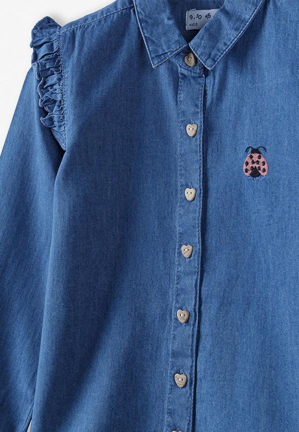 Рубашка для девочки 5.10.15 цвет синий  Фото 3