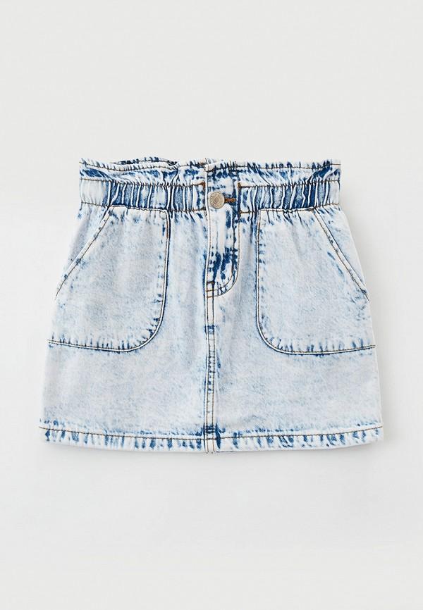 Юбка для девочки джинсовая Acoola цвет голубой