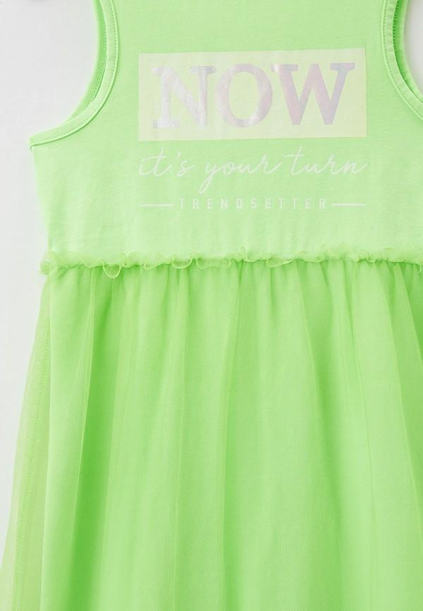 Платья для девочки Acoola цвет зеленый  Фото 3