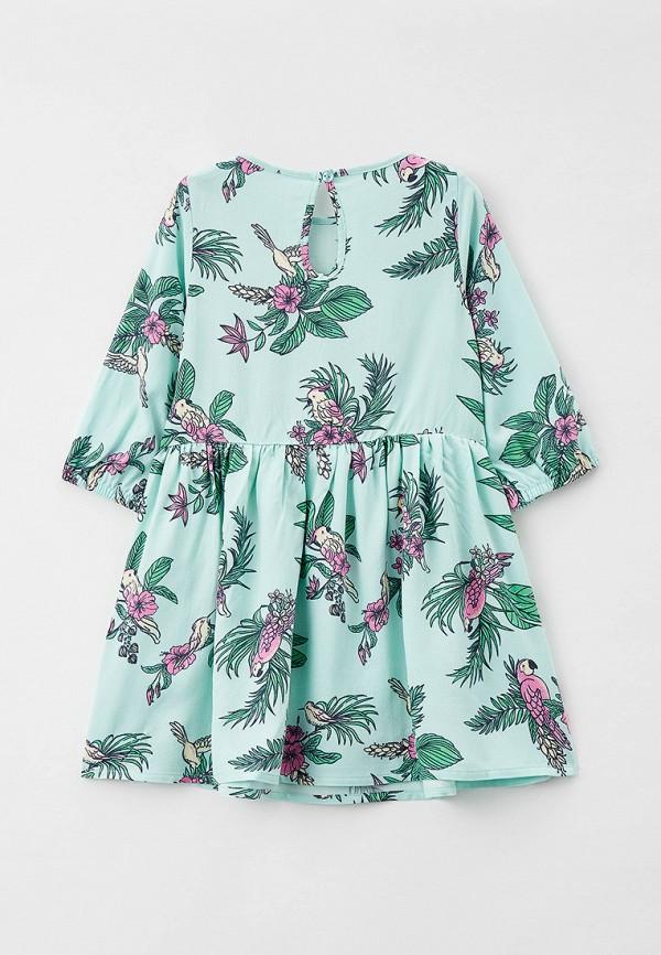 Платья для девочки Mark Formelle цвет бирюзовый  Фото 2