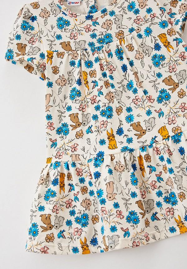 Платья для девочки Youlala цвет бежевый  Фото 3