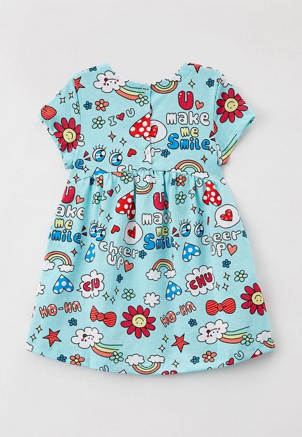 Платья для девочки Youlala цвет бирюзовый  Фото 2