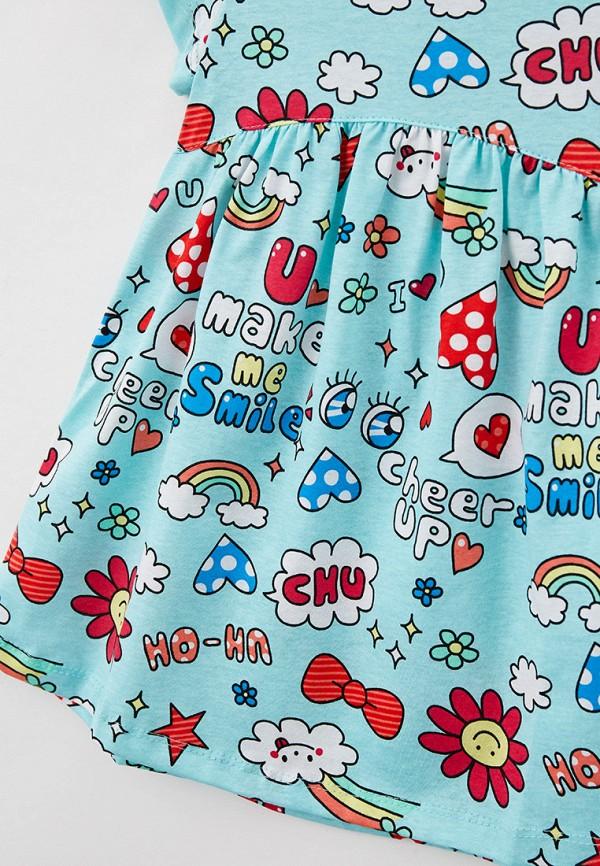 Платья для девочки Youlala цвет бирюзовый  Фото 3