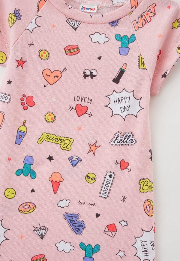 Платья для девочки Youlala цвет розовый  Фото 3