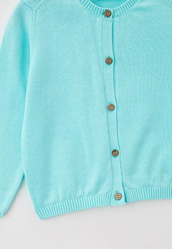Кардиган для девочки Sela цвет бирюзовый  Фото 3