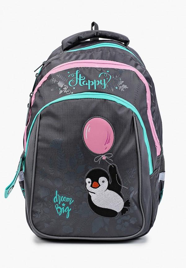 рюкзак berlingo для девочки, серый