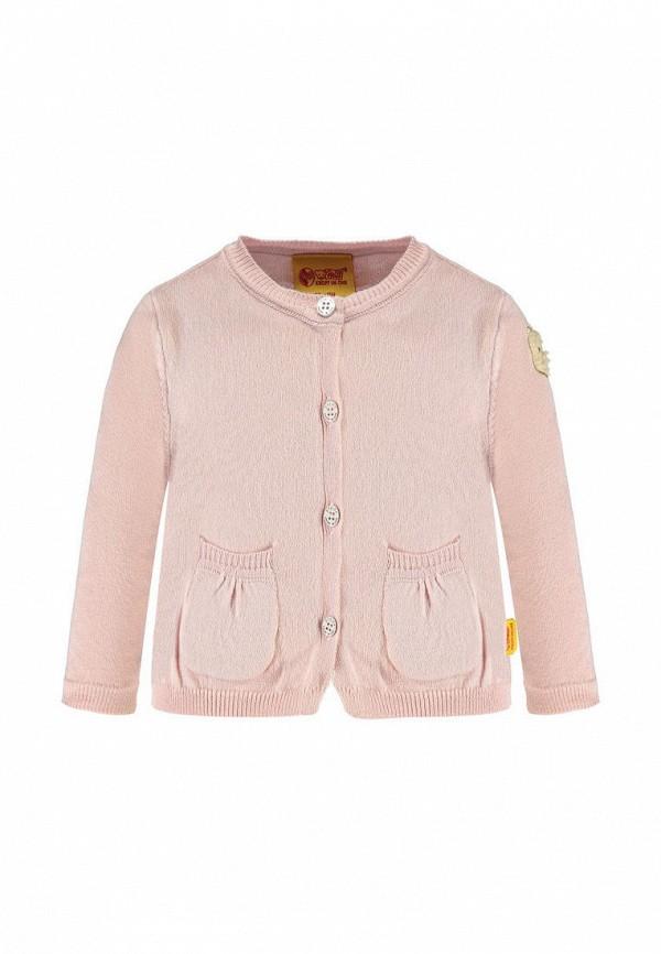 кардиган steiff для девочки, розовый