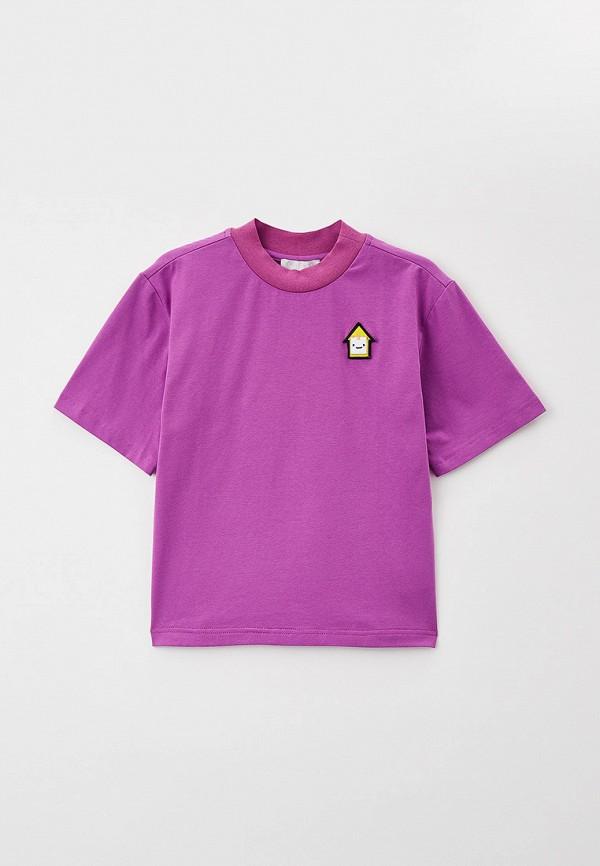 Футболка Smena фиолетового цвета