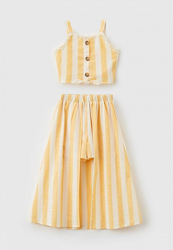 костюм defacto для девочки, желтый
