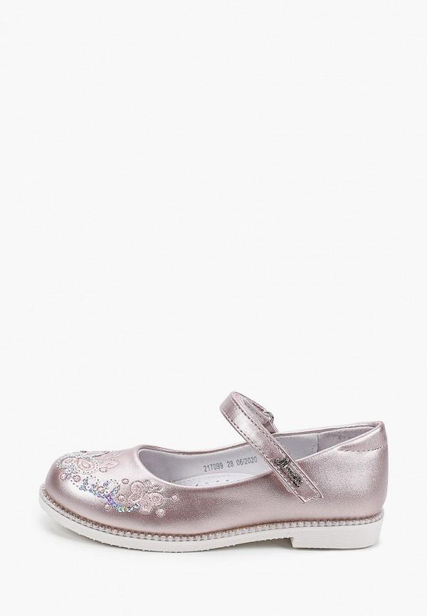 туфли mursu для девочки, розовые