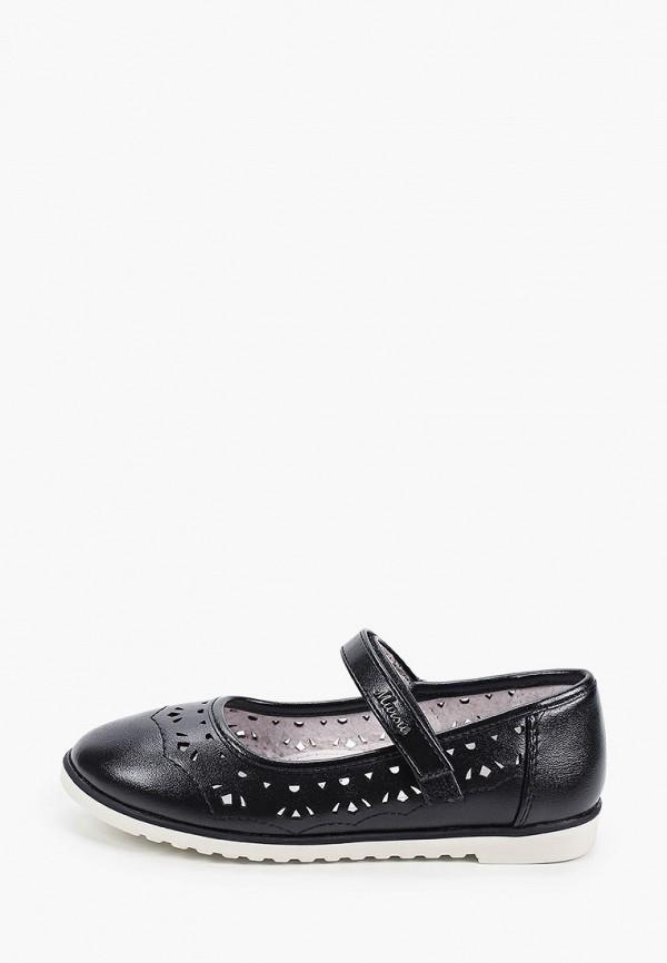 туфли mursu для девочки, черные