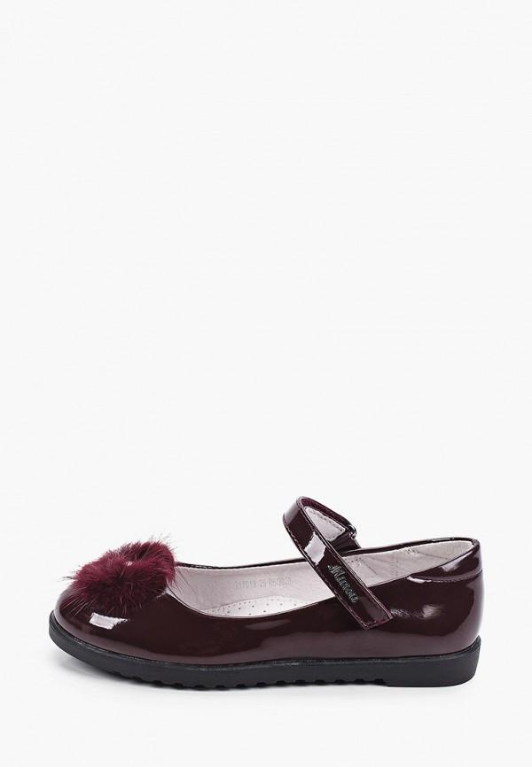 туфли mursu для девочки, бордовые