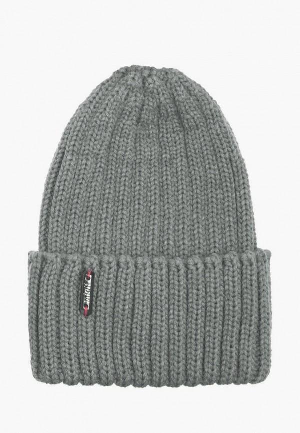 шапка mialt для девочки, серая