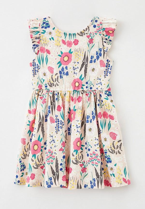 повседневные платье mark formelle для девочки, бежевое