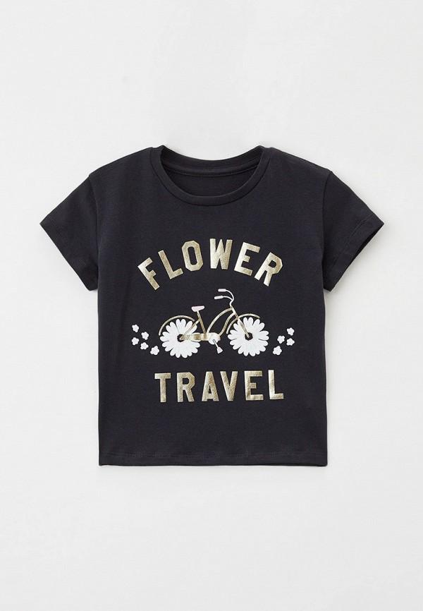 футболка с коротким рукавом mark formelle для девочки, черная