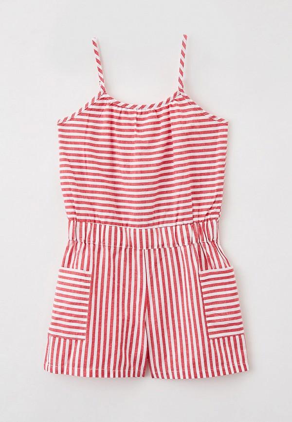 комбинезон с брюками sela для девочки, красный